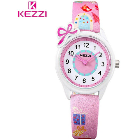 KEZZI Top Brand Kids Children Fashion Watches Quartz Analog Cartoon Leather Strap Wrist Watch Boys Girls Waterproof-Beautify Sweden