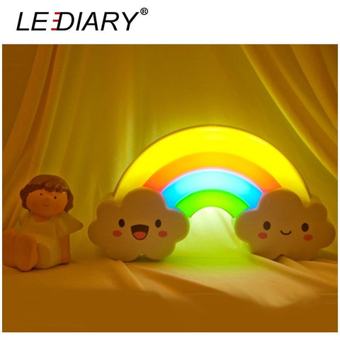 LEDIARY LED Rainbow Colorful Night Light Voice & Light Control Baby Bedside Lamp Children-Beautify Sweden