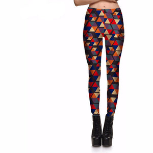 Leggings Women's Color Triangular Diamond Variable plus size-Beautify Sweden