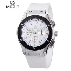 MEGIR Women Business Watch Chronograph Casual Quartz Analog Silicone-Beautify Sweden