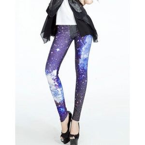 S-4XL Women The blue sky Leggings MIlk Leggings Galaxy leggings Plus Size girl-Beautify Sweden