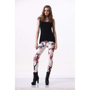 S-4XL Women The plum blossom Leggings-Beautify Sweden