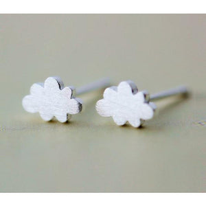 Small 925 Sterling Silver Stud Earring Cute Lovely Clouds Stud Earrings-Beautify Sweden