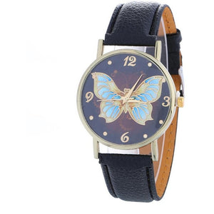 Wristwatch with butterfly and available in 7 different color-Beautify Sweden