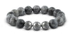 Pravano - Grand Grey Jasper Silver Trio Men's Bracelet