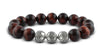Pravano - Red Tiger Eye Silver Trio Men's Bracelet