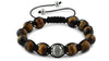 Tiger Eye and Silver Braided Macrame Bracelet