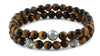 Tiger Eye and Silver Bracelets