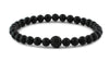 Matte Onyx and Black CZ Diamond Bead Bracelet
