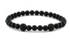 Matte Onyx and Two Black CZ Diamond Beads Bracelet