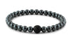 Hematite and Black CZ Diamond Bead Bracelet