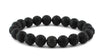 Lava and Black CZ Diamond Bead Bracelet