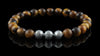 Tiger Eye Silver Trio Bracelet