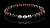 Red Tiger Eye Silver Trio Bracelet