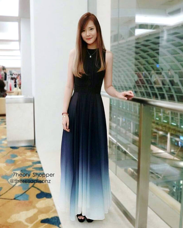 (BACK IN STOCK) Bernadette Midnight Blue Ombre Maxi