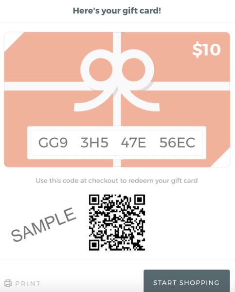 Theory Of Seven Gift Card