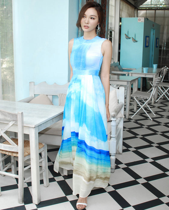 Deliah Cloud Exclusive Print Maxi