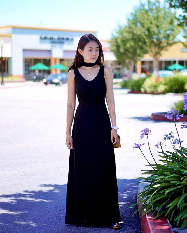(NEW!) Kathy Glam Black Choker Maxi