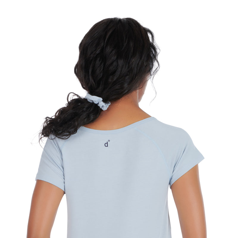 moisture wicking sleepwear ice blue back