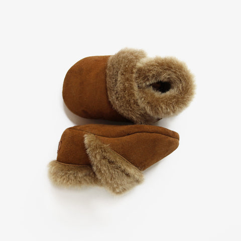 Shearling Booties // Acorn