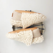 Fuzzy Shearling Loafers // Cream - GrayFoxCo
