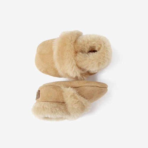 Shearling Booties // Wheat - GrayFoxCo
