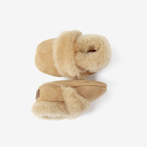 Shearling Booties // Wheat