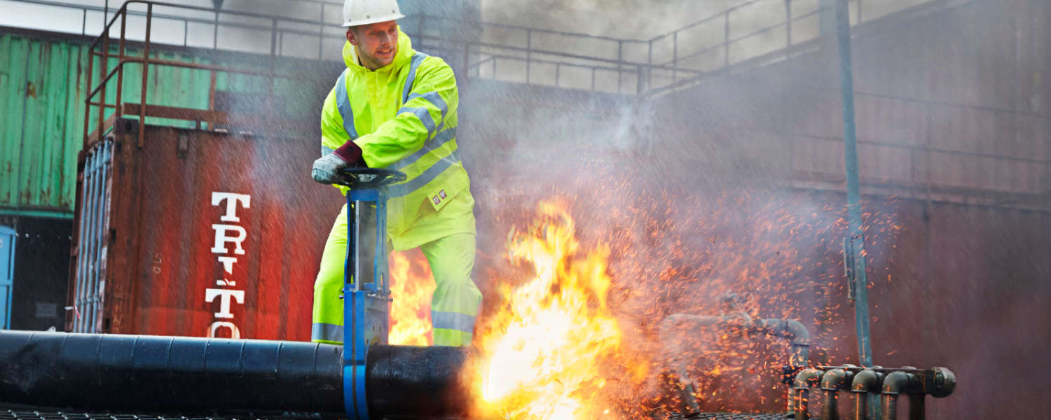 Flame retardant workwear from RBM Offshore Safety Supplies
