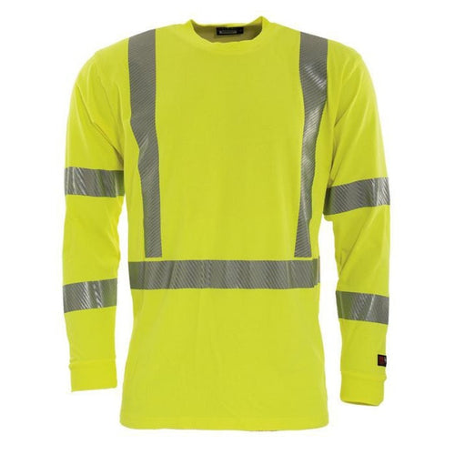 Tranemo FR Hi-Vis Long Sleeve T-Shirt-RBM Offshore Safety Supplies