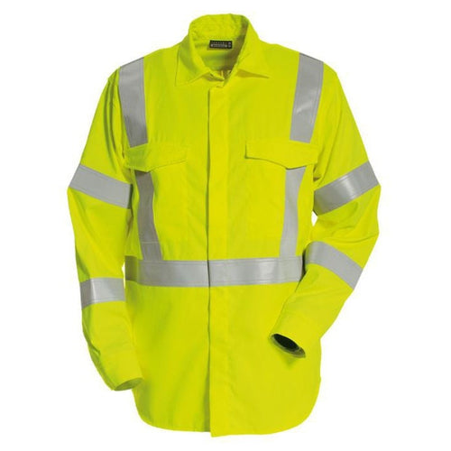 Tranemo Cantex Pro FR Hi-Vis Shirt-RBM Offshore Safety Supplies