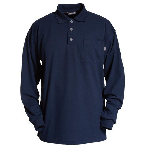 Tranemo Cantex FR Long Sleeve Polo Shirt-RBM Offshore Safety Supplies