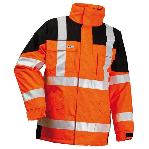 Lyngsoe Microflex FR Hi-Vis Waterproof Winter Jacket-RBM Offshore Safety Supplies