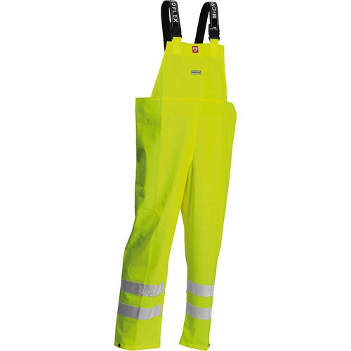 Lyngsoe Microflex FR Hi-Vis Waterproof Bib Trousers-RBM Offshore Safety Supplies