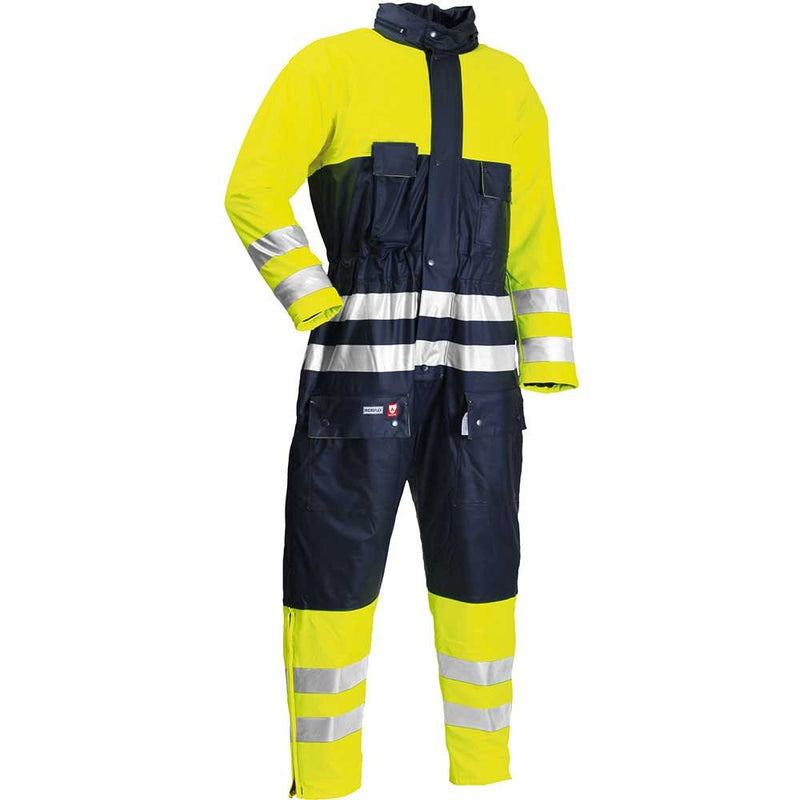 Lyngsoe Hi-Vis Microflex Waterproof FR Winter Overalls-RBM Offshore Safety Supplies