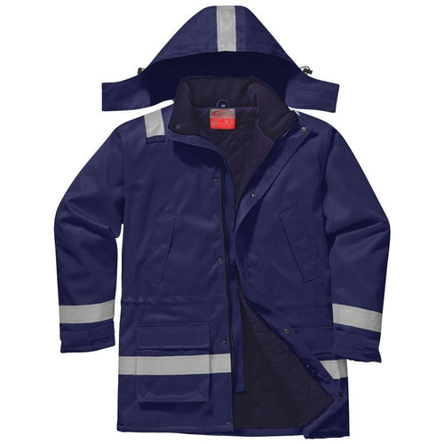 Portwest Bizflame Plus FR Antistatic Winter Jacket-RBM Offshore Safety Supplies