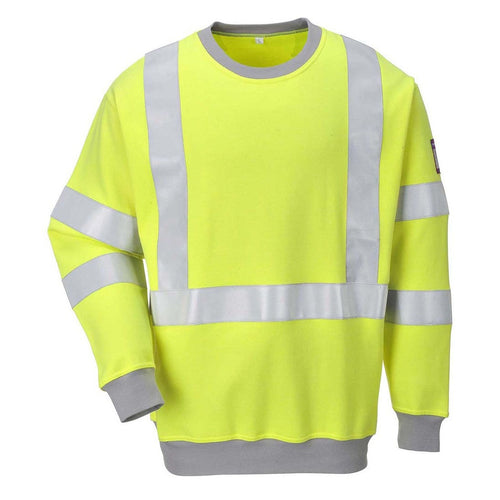 Portwest Modaflame FR Antistatic Hi-Vis Sweatshirt-RBM Offshore Safety Supplies