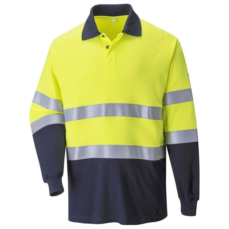 Portwest Modaflame FR Hi-Vis Two-Tone Polo Shirt-RBM Offshore Safety Supplies
