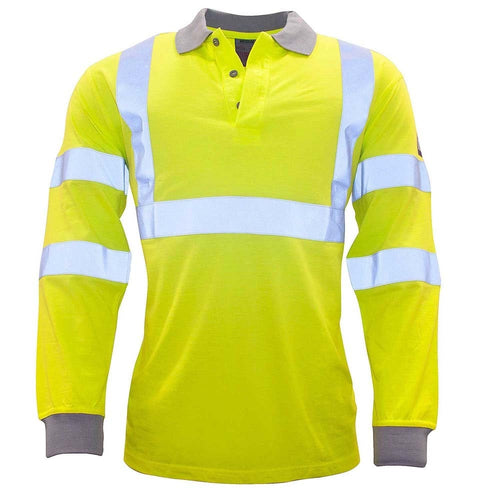 Portwest Modaflame FR Hi-Vis Polo Shirt-RBM Offshore Safety Supplies