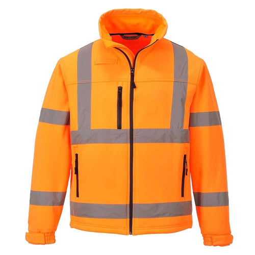 Portwest Hi-Vis Softshell Jacket-RBM Offshore Safety Supplies