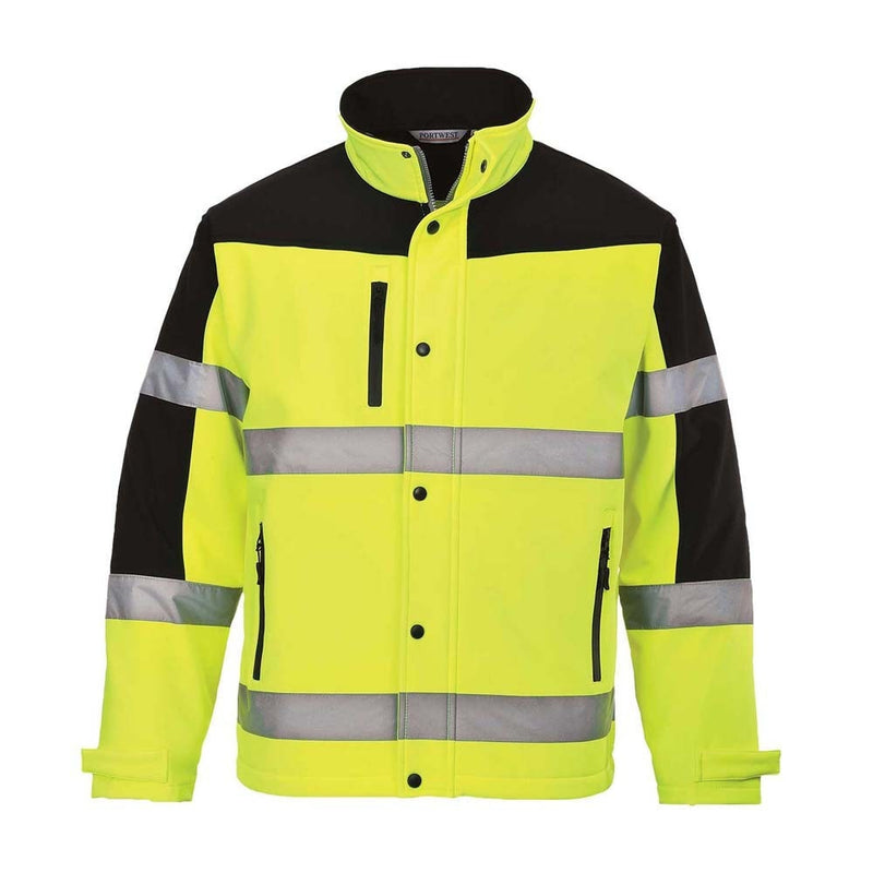 Portwest Hi-Vis Two-Tone Softshell Jacket-RBM Offshore Safety Supplies