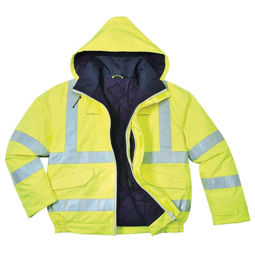 Portwest Bizflame FR Antistatic Hi-Vis Bomber Jacket-RBM Offshore Safety Supplies