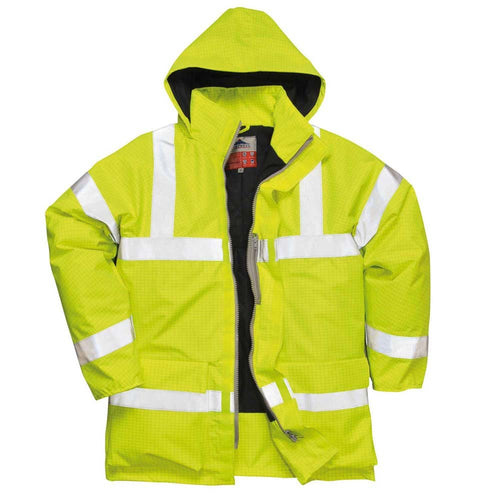 Portwest Bizflame FR Antistatic Hi-Vis Rain Jacket-RBM Offshore Safety Supplies