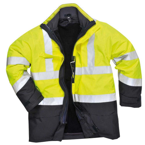 Portwest Bizflame Plus FR Hi-Vis Rain Jacket-RBM Offshore Safety Supplies