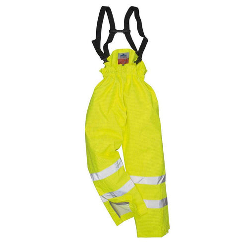 Portwest Bizflame FR Waterproof Hi-Vis Trousers-RBM Offshore Safety Supplies