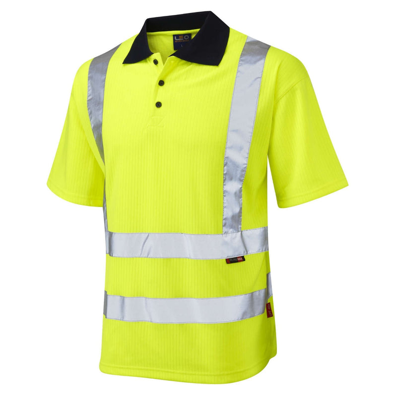 Leo Hi-Vis Comfort Polo Shirt-RBM Offshore Safety Supplies