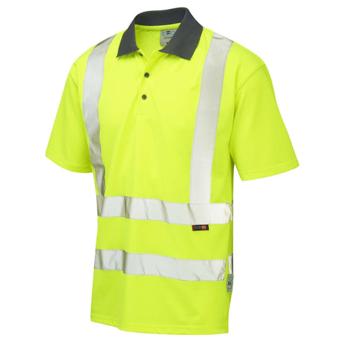 Leo Hi-Vis Coolviz Polo Shirt-RBM Offshore Safety Supplies
