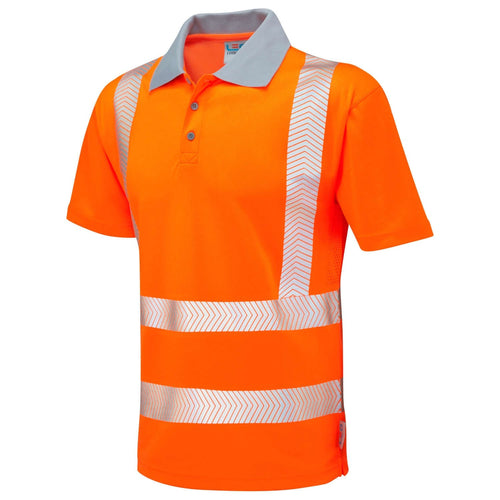 Leo Hi-Vis Coolviz Plus Polo Shirt-RBM Offshore Safety Supplies