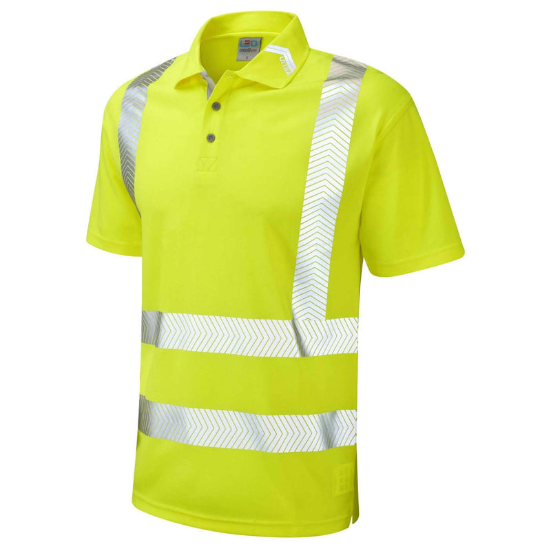 Leo Hi-Vis Coolviz Ultra Polo Shirt-RBM Offshore Safety Supplies