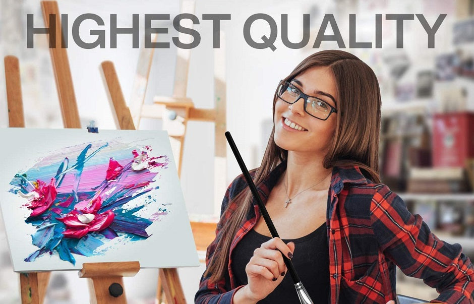 Artist Quality Acrylic Paint Set with 6 Nylon Brushes - 24 Rich Non Toxic Colors for Kids, Adults and Artists - Perfect Kit for Beginner, Pro or Budding Artist to Create Amazing Paintings and Artwork