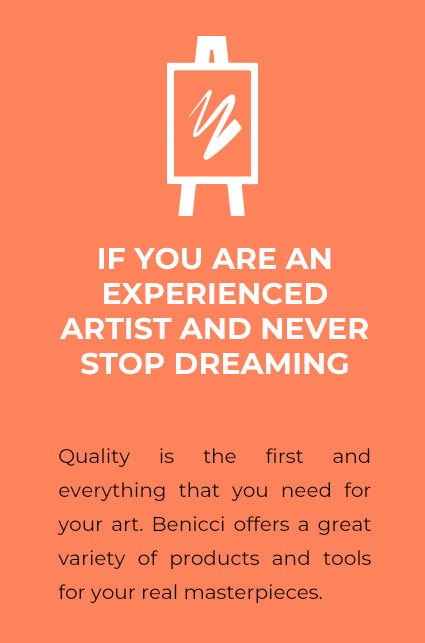 If you are an experienced artist and never stop dreaming. Quality is the first and everything that you need for your art. Benicci offers a great variety of products and tools for your real masterpieces.